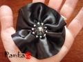 Fekete rózsa bross