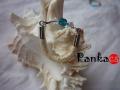 Bőrgyűrű - kristály-kék