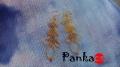 Sujtásmotívumos fülbevaló - borostyán