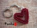 Szív-ecske kulcstaró